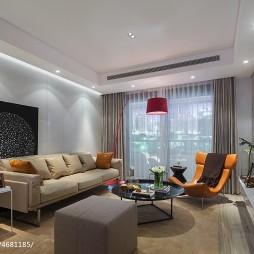 简洁现代风格样板间客厅设计