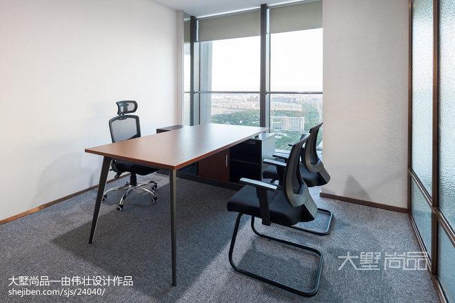 轻奢风办公空间会议室装修