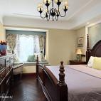 雅致美式风格卧室装饰图