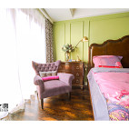 美式风格雅致卧室布置
