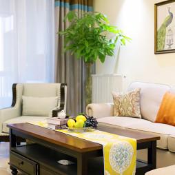 明亮美式风格客厅设计