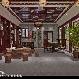 中式办公室带喝茶打牌_2480861