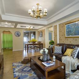 浪漫美式客厅设计效果图
