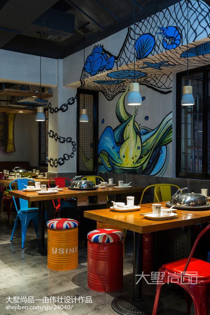 生活资讯_海鲜小吃餐厅设计案例 – 设计本装修效果图