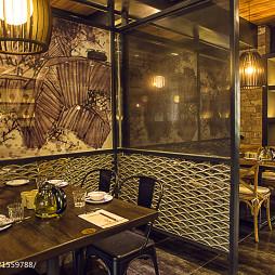 墨兰小馆中餐厅隔断设计