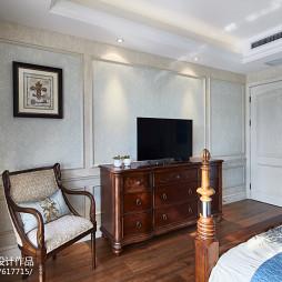 家装美式卧室背景墙装修