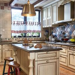 美式乡村风格厨房效果图