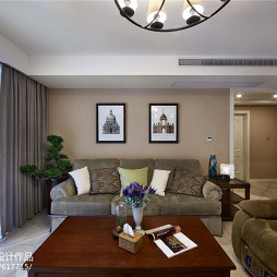 美式风情客厅设计装修