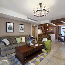 家装美式客厅设计效果图