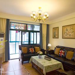 典雅美式三居室客厅效果图