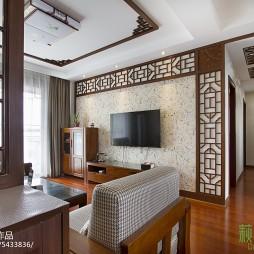 古典中式风格三居室背景墙装修