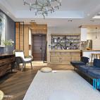 复古混搭风格客厅装饰图