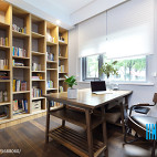 大气混搭风格书房设计案例