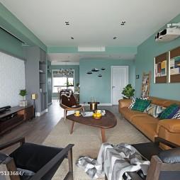 北欧风格四居室客厅装饰图