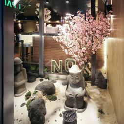 日韩料理店室内景观区设计