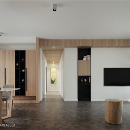 现代风格四居室过道设计