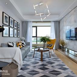 样板房简欧风格客厅设计