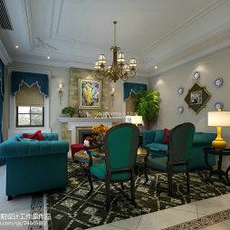 绚丽田园风格家居客厅设计