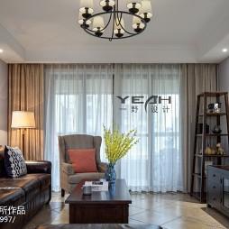雅致美式三居室客厅效果图