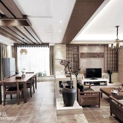 简雅中式风格客厅效果图