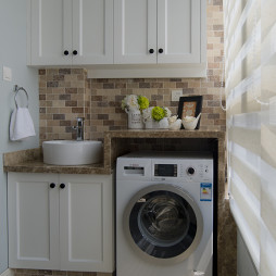 美式风格阳台洗衣房效果图
