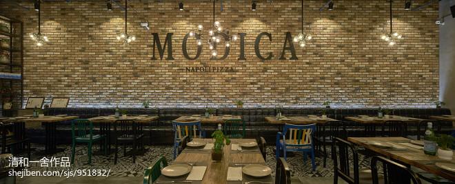 西餐厅用餐区创意墙设计