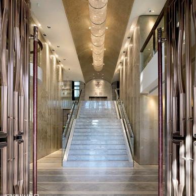 保利•天誉会所楼梯设计