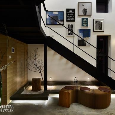 LOFT办公空间楼梯下休息区设计