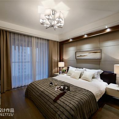 现代风格三居室卧室布置