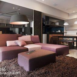 时尚现代风格二居室客厅设计