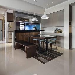 现代风格二居室餐厅设计案例
