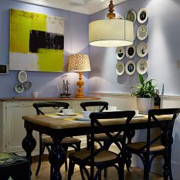 美式餐厅挂盘墙设计