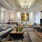 美式三居室精美客厅设计