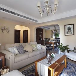 家装美式四居室客厅装修