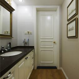 白色美式风格卫浴设计