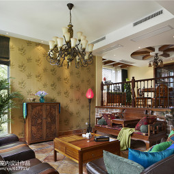 古典东南亚风格客厅设计效果图