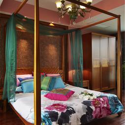 温馨东南亚风格卧室效果图