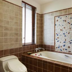 家装东南亚风格复式卫浴设计