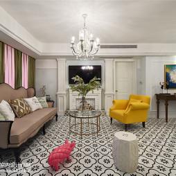 最新美式客厅设计效果图