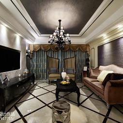 高贵新古典风格客厅设计