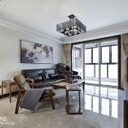 简约中式风格客厅效果图