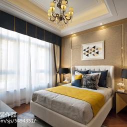 家装现代风格样板房卧室布置