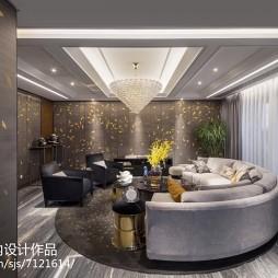 现代样板房客厅水晶吊灯