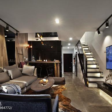 酒店式公寓炫酷黑白灰设计---同进理想城_2511891