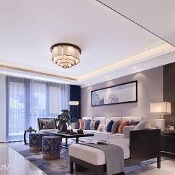 现代风格样板间客厅装修案例