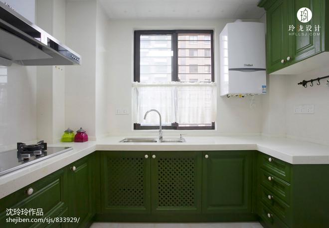美式风格清爽厨房设计