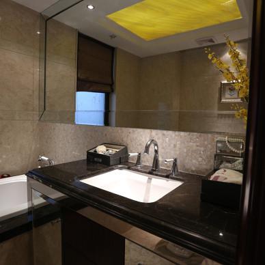 简欧风格别墅卫浴设计图片