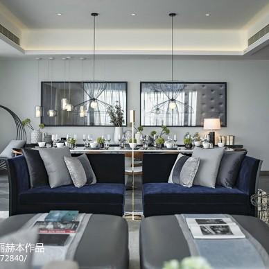 雅致现代风格别墅客厅布置