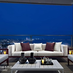 现代风格别墅阳台设计图片