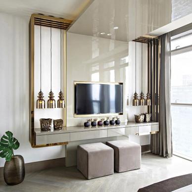 豪华现代风格电视背景墙设计